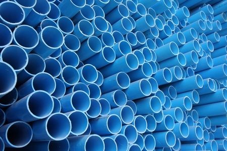 pipes: Blue pvc pipes Stock Photo