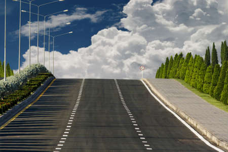 amasing: Beautiful road and cloud