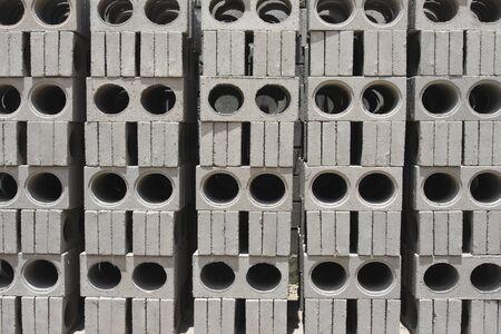 bloque de hormigon: Tipo de agujero de bloques de hormig�n Foto de archivo