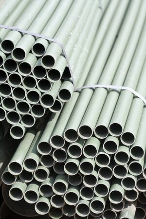 Gray PVC pipes for drain  photo