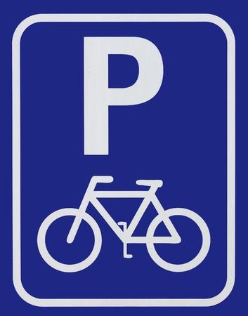 Señal de aparcamiento para bicicletas Foto de archivo - 13366407