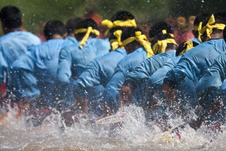 boat race team work Stock Photo - 13617674