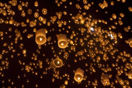 laterns: Floating laterns in Chiangmai Thailand