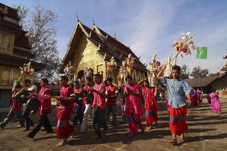 LAMPHUN, THAILAND - DEC 31 : Unidentified Karen tribes in ceremony at Phrabat Khawtom temple on Dec 31, 2010 in Lamphun, Thailand.