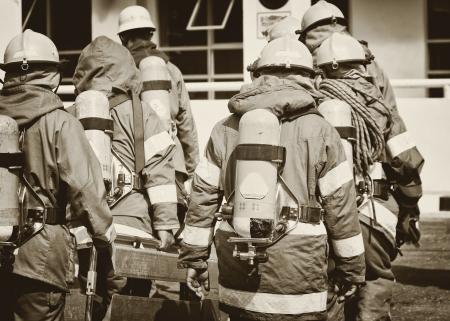 Fireman team photo