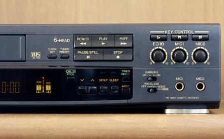 Control Panel of a karaoke videorecorder Stock Photo