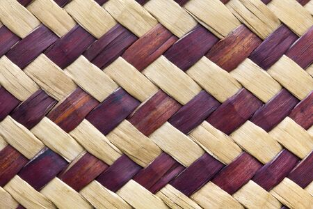 Texture of bamboo weave photo