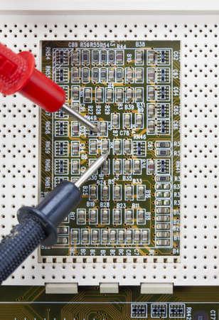 electronic scheme: verification testing of electronic boards