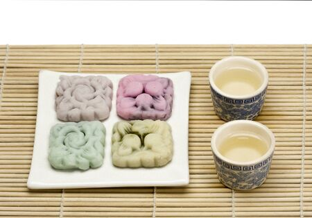 semisweet: soft skin moon cake with tea