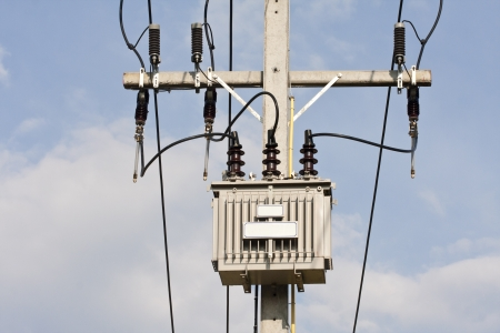 transformator: Transformer on high power station  High voltage