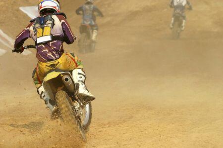 roosting: motocross bike increase speed in track
