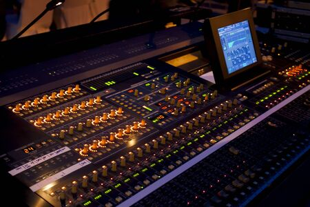 Sound mixer in concert photo
