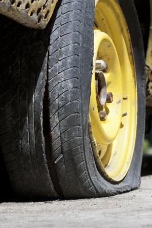 Flat tire photo