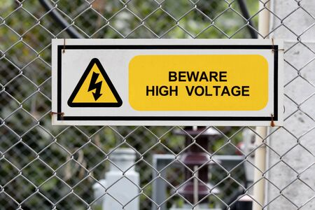 high voltage sign: high voltage warning sign