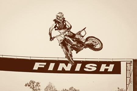 supercross: Motocross winner jump