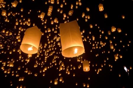 Floating asian lanterns