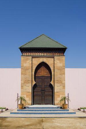 Bois porte de style Maroc Banque d'images - 16935020