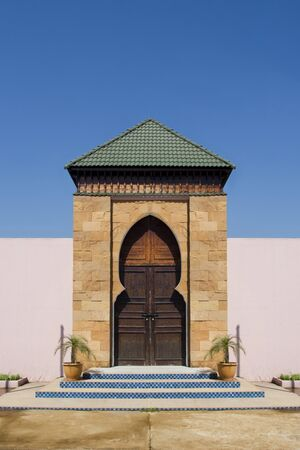 Wood gate Morrocco style photo