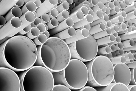 pvc: Size of PVC pipes Stock Photo