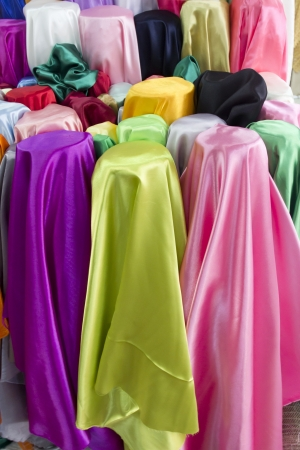 polyester: Colorful fabrics on sale