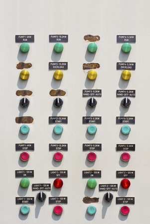 manufactory: Electrical control panel in manufactory