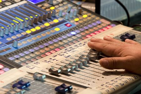 sound mixer: Audio sound mixer in concert