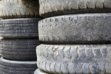 retreading: Old truck tires