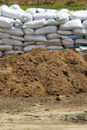 manure: composting ecological in farm Stock Photo