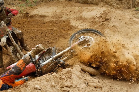 dirt roads: Motocross crash