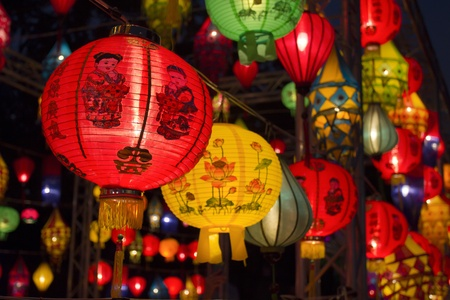 singapore culture: Asian lanterns in lantern festival