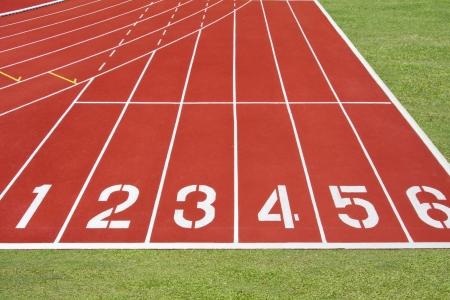 Start point of running track photo