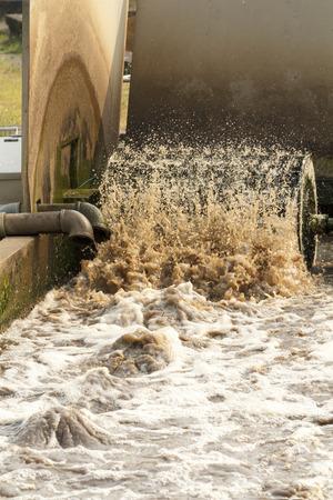 turbidity: Waste water treatment plant Stock Photo