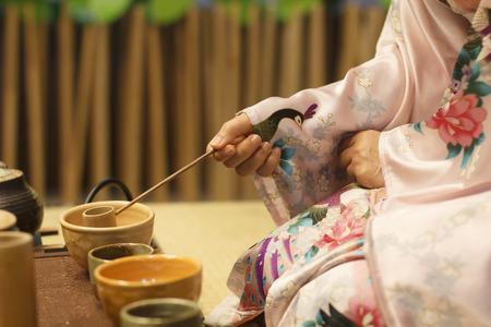Japanische Teezeremonie kultur ost Getränke Standard-Bild - 28389391