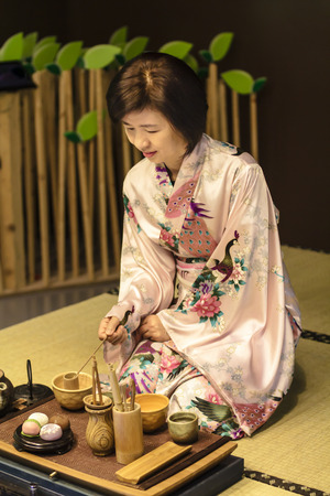 japanese green tea: Japanese traditional tea ceremony