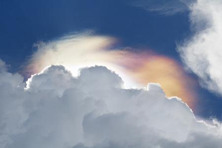 iridescent:  Iridescent clouds phenomenon  Stock Photo