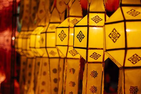 yeepeng: Lanterns in Yee-peng festival ,ChiangMai Thailand