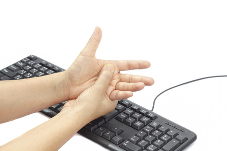 Painful hand due to prolonged use of keyboard and mouse