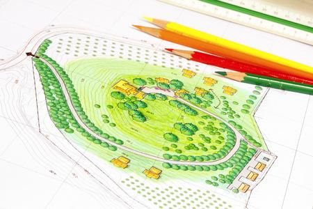 drafting tools: Landscape Design Plan
