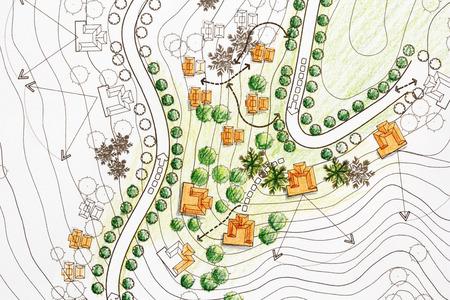 Landscape Architect Ontwerpen op het terrein analyseplan