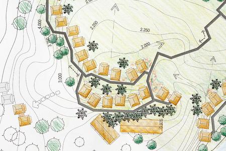 tree plan: Landscape Architect Designing on site analysis plan