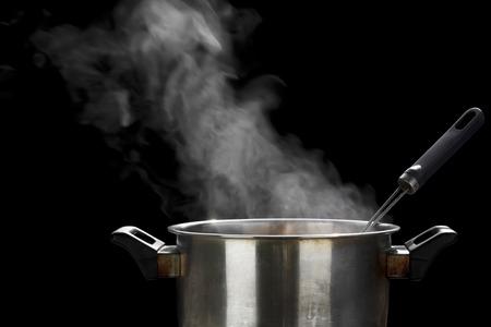 vapeur sur marmite