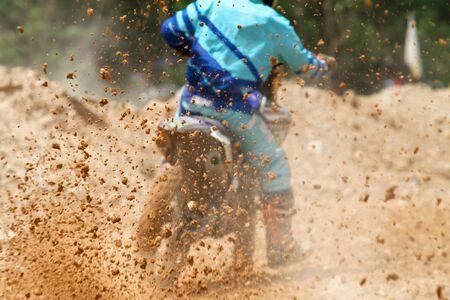 dirt: Dirt debris from a motocross race Stock Photo