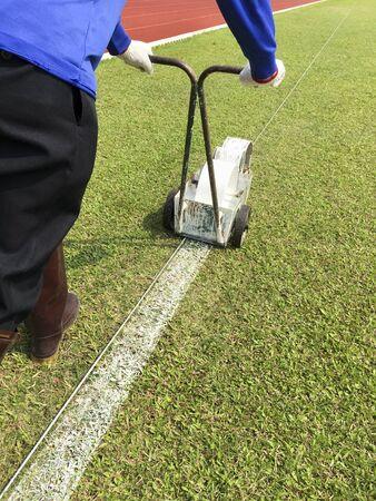 Sport Field Marking Paint Stok Fotoğraf