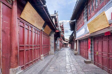 Lijiang old town in the morning , Yunnan ,China Stock Photo