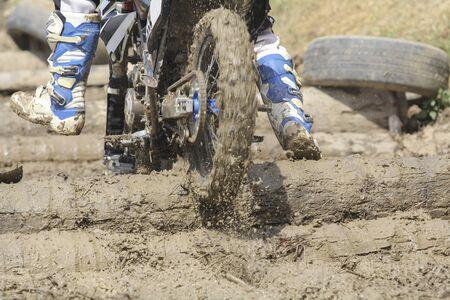 enduro: Enduro racer on the track