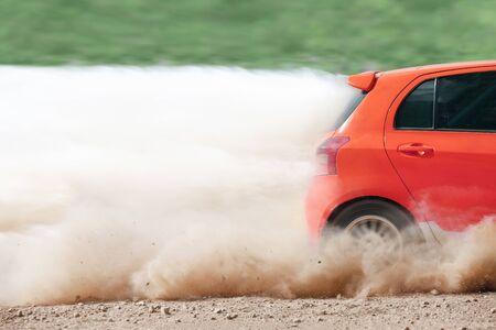 rally car: Rally car in dirt track