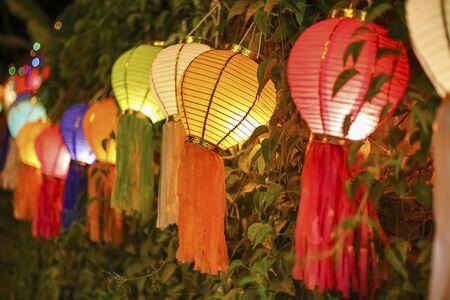 yeepeng: Asian lanterns on vine fence