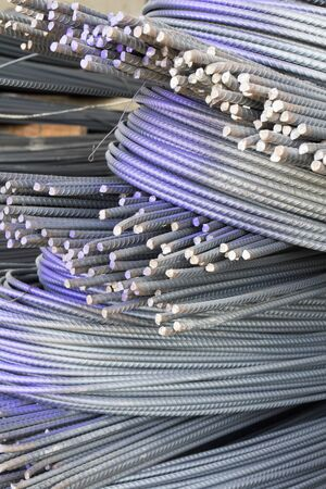 steel rod for construction Stock Photo