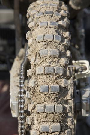mx: Tire of motocross bike Stock Photo