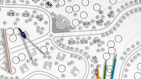 landscape architecture: Landscape Designs Blueprints For Resort.